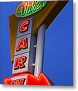 Retro Car Wash Sign Metal Print by Norman Pogson