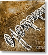 Revolutionary War Cannons Metal Print by Olivier Le Queinec