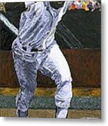 Rickey Henderson Metal Print by Mike Rabe