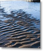 Ripples In The Sand Metal Print by Anne Gilbert