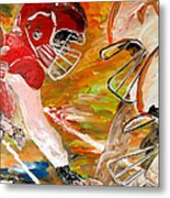 Rivals Face To Face  Metal Print by Mark Moore