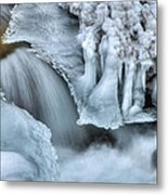 River Ice Metal Print by Chad Dutson