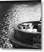 River Seat Metal Print by John Rizzuto