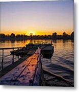 River Sunset Metal Print by Svetlana Sewell