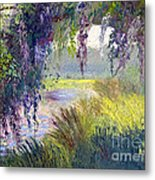 River Through The Moss Metal Print by Patricia Huff