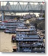 Riverboat Row Metal Print by Mel Steinhauer