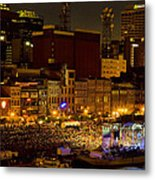 Riverfront Evening Concert Metal Print by Diana Powell