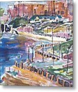 Riverwalk Metal Print by Helen Lee