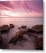 Riviera Maya Sunrise Metal Print by Adam Romanowicz
