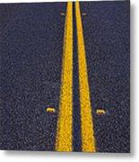 Road Stripe  Metal Print by Garry Gay