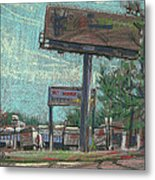 Roadside Billboards Metal Print by Donald Maier