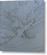 Roaring Fork Falls - Sketch Metal Print by Joel Deutsch