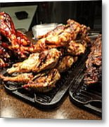 Roast Chicken And Meat Platters - 5d20687 Metal Print by Wingsdomain Art and Photography
