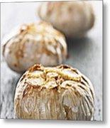 Roasted Garlic Bulbs Metal Print by Elena Elisseeva