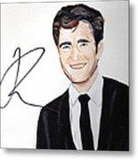 Robert Pattinson 64a Metal Print by Audrey Pollitt