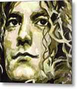 Robert Plant. Golden God Metal Print by Tanya Filichkin