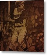Roberto Clemente Metal Print by Christy Saunders Church