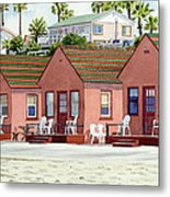 Robert's Cottages Oceanside Metal Print by Mary Helmreich