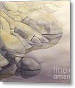 Rock Meets Water Metal Print by Robert Hooper