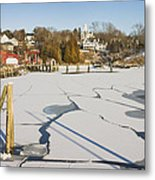 Rockport Maine In Winter Metal Print by Keith Webber Jr