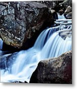 Rocks And Waterfall Metal Print by Adam LeCroy