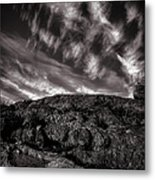 Rocks Clouds Water Metal Print by Bob Orsillo