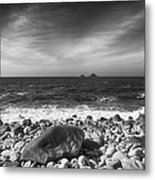 Rocky Shore Metal Print by Chris Thaxter