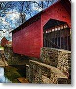 Roddy Road Covered Bridge Metal Print by Joan Carroll