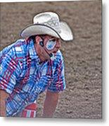 Rodeo Clown Cowboy In Dust Metal Print by Valerie Garner