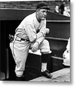 Rogers Hornsby Leaning On One Knee Metal Print by Retro Images Archive