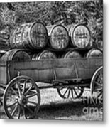 Roll Out The Barrels Metal Print by Mel Steinhauer