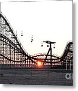 Roller Coaster Metal Print by John Rizzuto