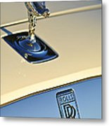 Rolls-royce Hood Ornament 3 Metal Print by Jill Reger