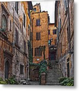Roman Backyard Metal Print by Hanny Heim