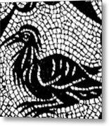 Roman Mosaic Bird Metal Print by Mair Hunt