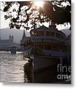 Romantic Afternoon Scenic In Lucerne Metal Print by George Oze