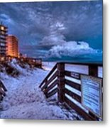 Romar Beach Clouds Metal Print by Michael Thomas