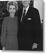 Ronald And Nancy Reagan Metal Print by War Is Hell Store
