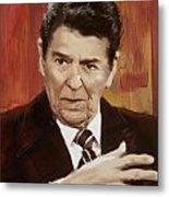 Ronald Reagan Portrait 2 Metal Print by Corporate Art Task Force