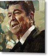 Ronald Reagan Portrait 5 Metal Print by Corporate Art Task Force