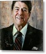Ronald Reagan Portrait 7 Metal Print by Corporate Art Task Force