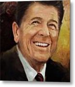 Ronald Reagan Portrait 8 Metal Print by Corporate Art Task Force