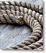 Rope Metal Print by Janice Drew