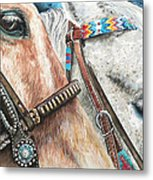 Roping Horses Metal Print by Nadi Spencer