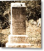 Rosa Sanders - Vintage Metal Print by Bob and Nancy Kendrick