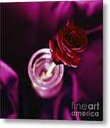 Rose Metal Print by Stelios Kleanthous