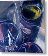 Rosenblum And Glasses Metal Print by Donna Tuten