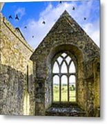 Ross Errilly Friary - Irish Monastic Ruins Metal Print by Mark E Tisdale