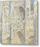 Rouen Cathedral West Facade Metal Print by Claude Monet