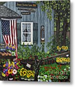 Round Swamp Farm By Alison Tave Metal Print by Sheldon Kralstein